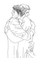 Destiel-hug by sweetdari