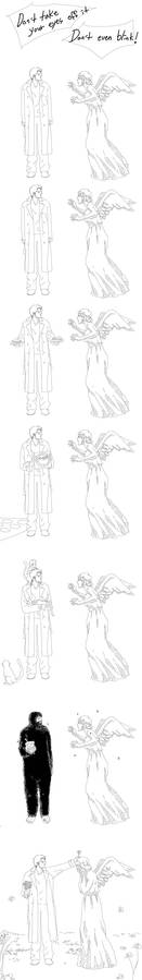 Castiel vs Weeping Angel