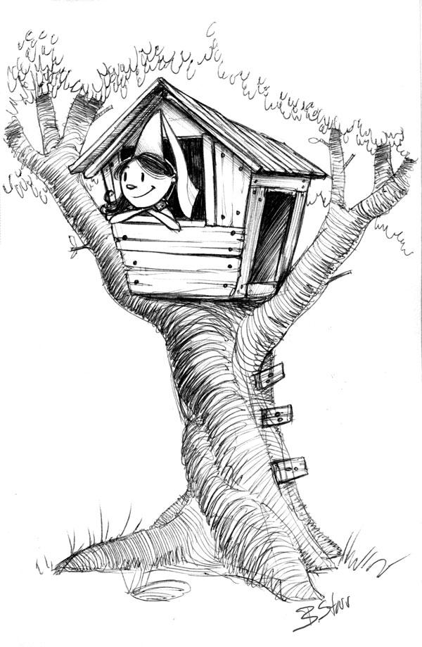 Treehouse Sketch By Brandonstarr On DeviantArt