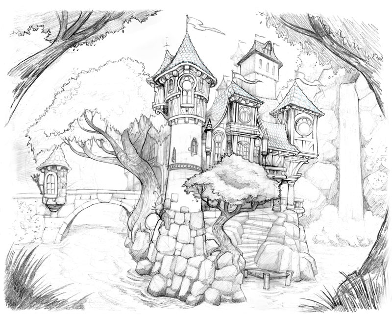 Halloween Coloring Pages likewise Y2FzdGxlIGRyYXdpbmc moreover How To Draw A Haunted Tree Halloween Tree Step By Step further How To Draw Haunted House additionally  on scary door steps