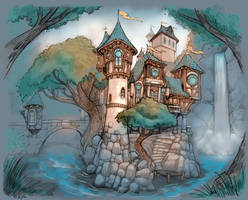 Colored Castle by Brandonstarr
