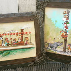 Framed pieces for Popzilla Disney Afternoon Show