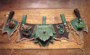 Finyas leathern apron LARP by RoastedMoth