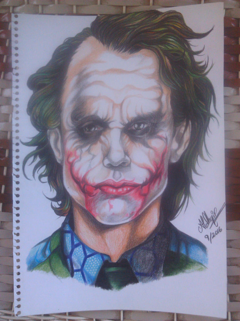 Heath Ledger Joker by AldhaRoku