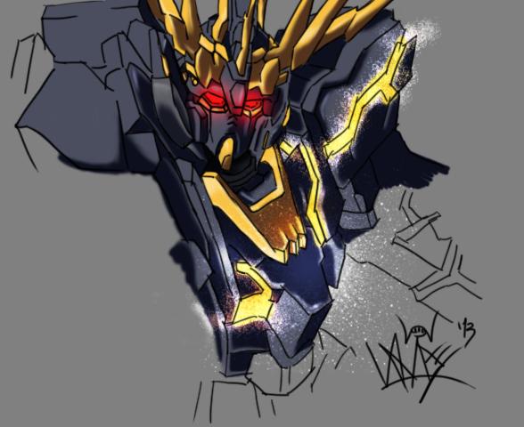 RX-0 Unicorn Gundam 02 Banshee by kaiser093 on DeviantArt Gundam Banshee Wallpaper