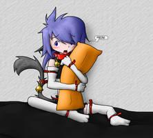 Neko's pillow action by Alodo
