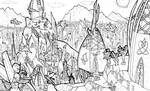The Spires of Vos (Line-art)