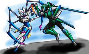 Airachnid vs Arcee (Shattered Glass)