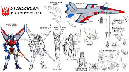 Reference Sheet (SG): Starscream by SoundBluster