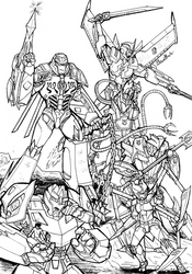 Decepticons (Shattered Glass Line Art) by SoundBluster