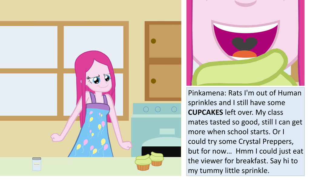 Pinkamena's breakfast by trohobo