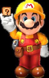 Super Mario Odyssey Render - Builder Mario