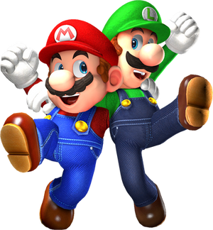 Super Mario Odyssey Render - Mario n' Luigi