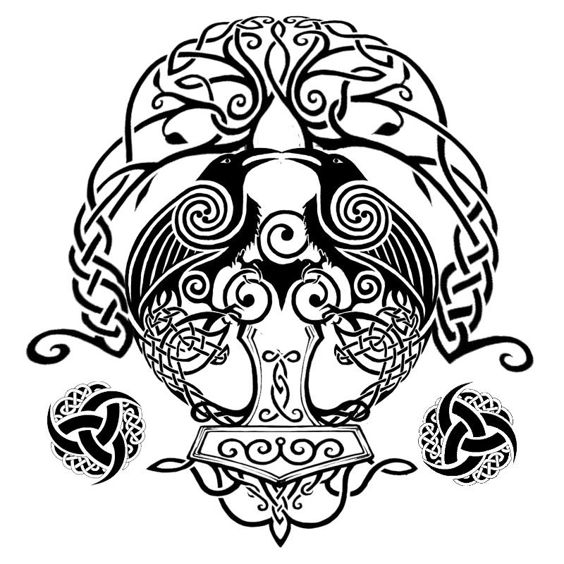 nordic mithology tribal by GodEnki