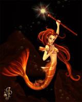 Fire Mermaid by EliaJasmine