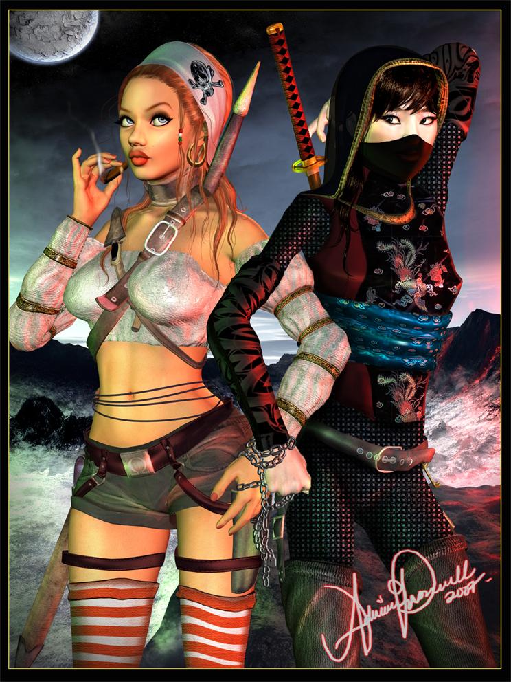Images,Avatars... Pirate_versus_Ninja_by_EliaJasmine