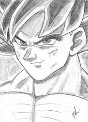 UI Goku in Pencil by VegetaPrime