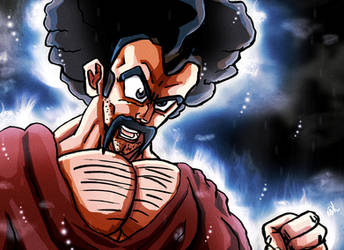 Ultra Instinct Mr Satan by VegetaPrime