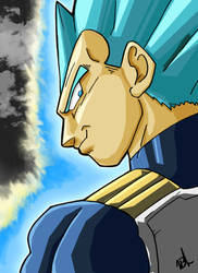 Super Saiyan Blue Vegeta by VegetaPrime