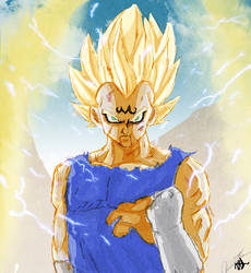 Majin Vegeta Collab by VegetaPrime