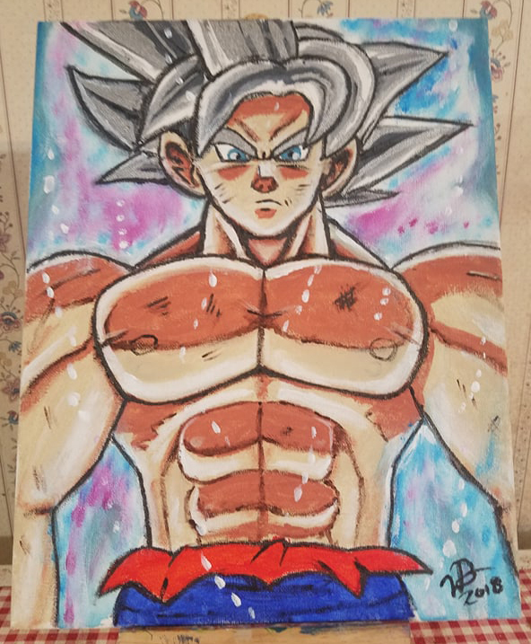 Master Ultra Instinct Goku (Painted) by VegetaPrime
