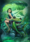 Fishing with Frog by maximegirault