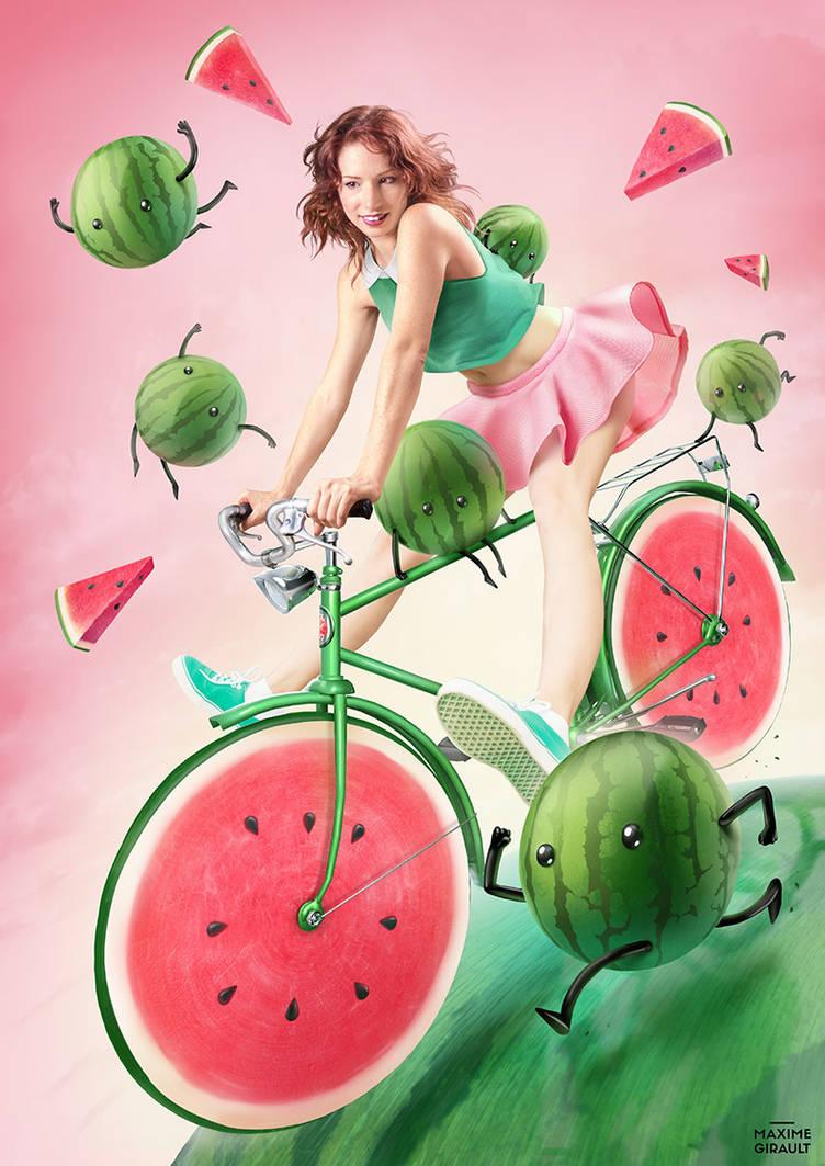 Watermelon Bicycle by maximegirault