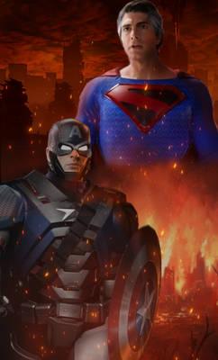 Mashup Versus: Superman vs Capt. America Armour