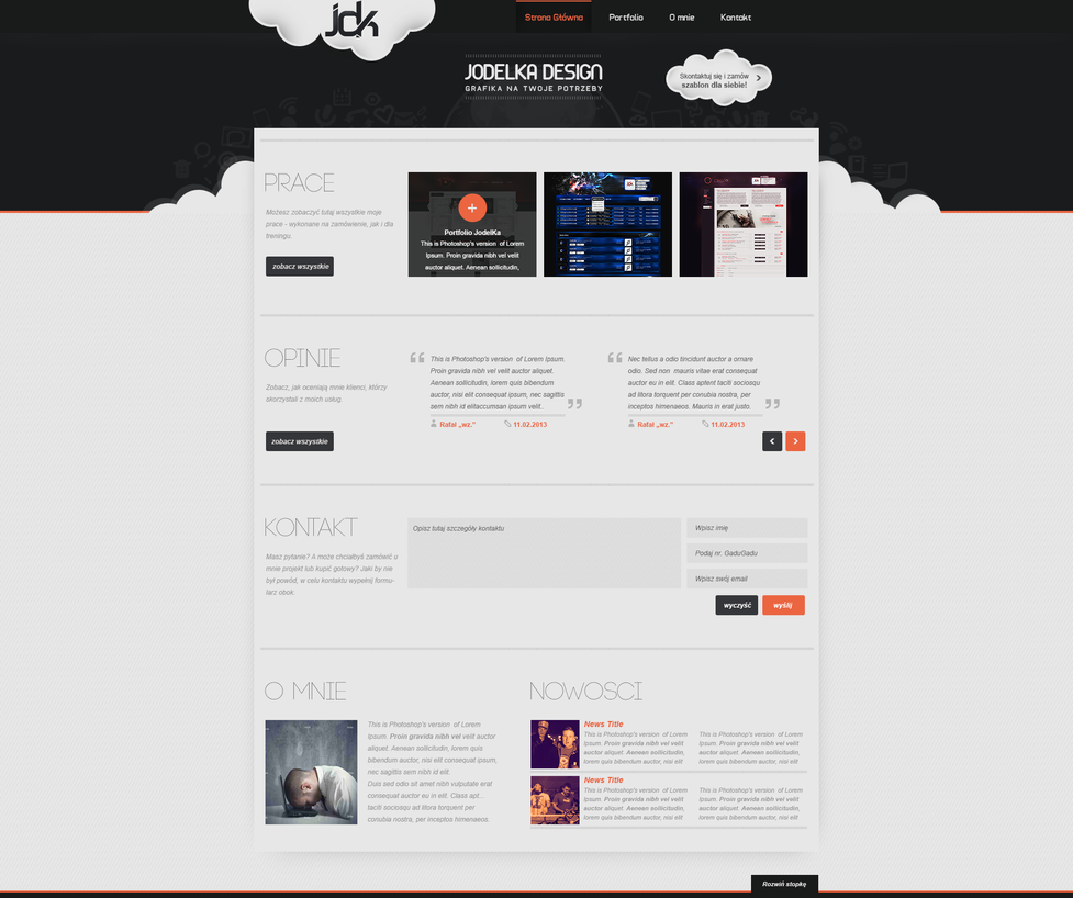 New    portfolio       layout    by JodelKaDesign on DeviantArt