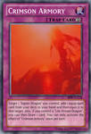 YGO Custom card - Crimson Armory by KuriMaster13