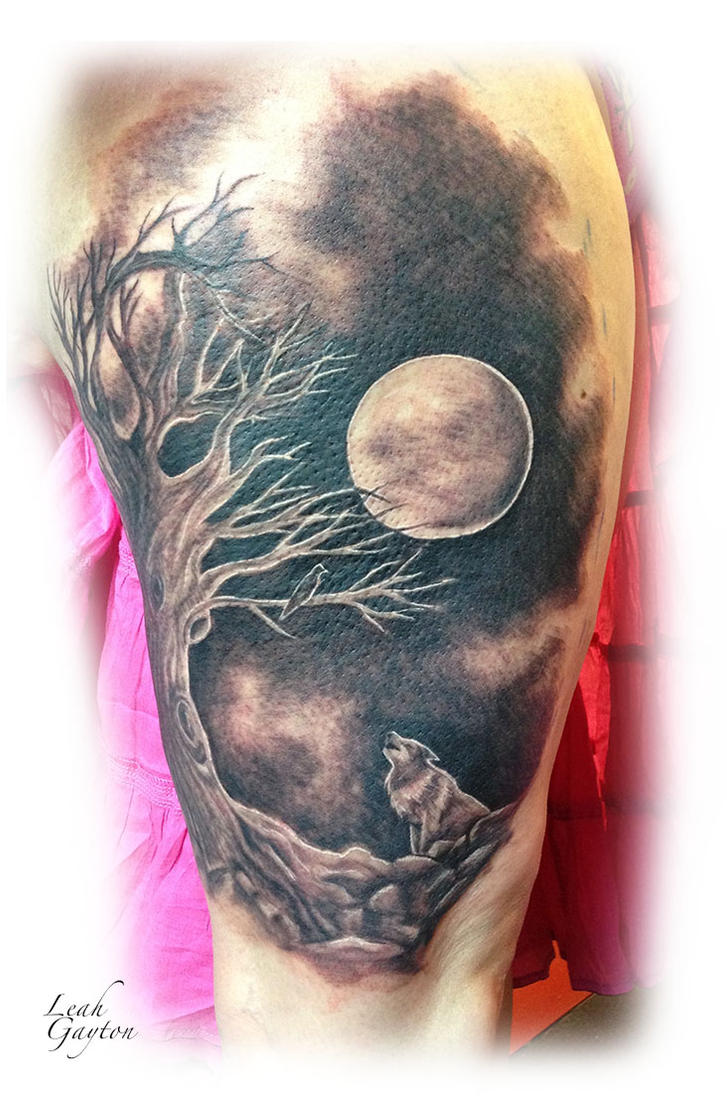 howling at the moon tattoo by firecomet on deviantart rh deviantart com wolf howling at the moon tattoo designs wolves howling at the moon tattoos