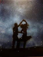 Dancing with fireflies in starlight by naturewalker1