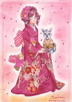 ::COMISSION:: .:Red Kimono:.