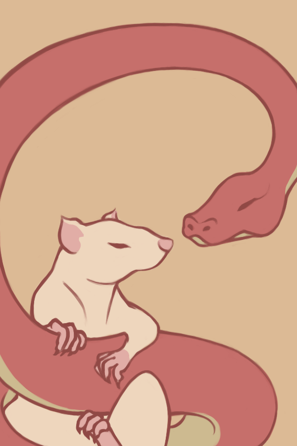 Wip Snake and Rat by Cradlesin