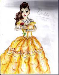Disney Punk Belle by hollybeexxx