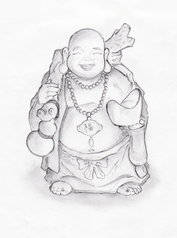 laughing buddha drawing - photo #11