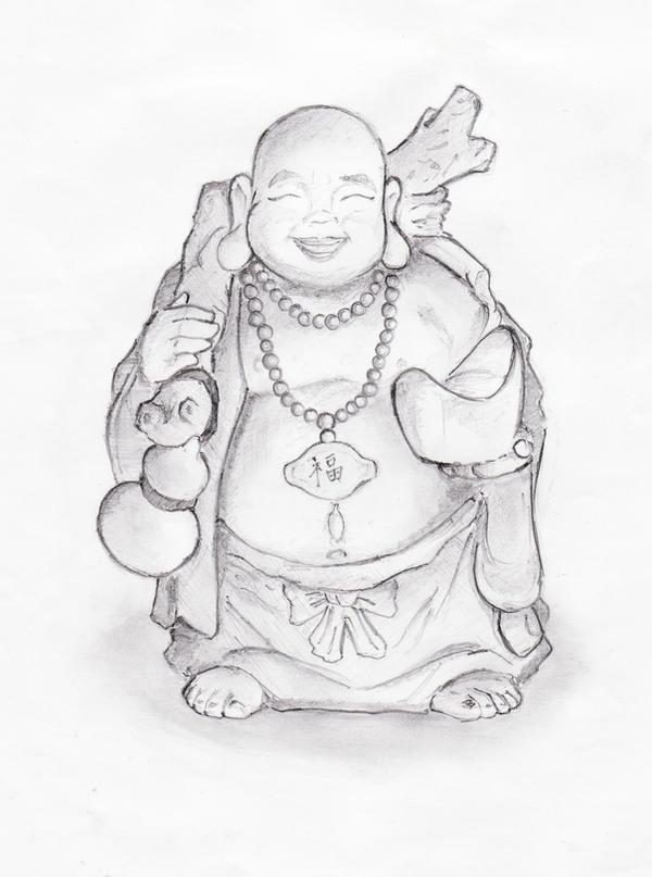 laughing buddha drawing - photo #11