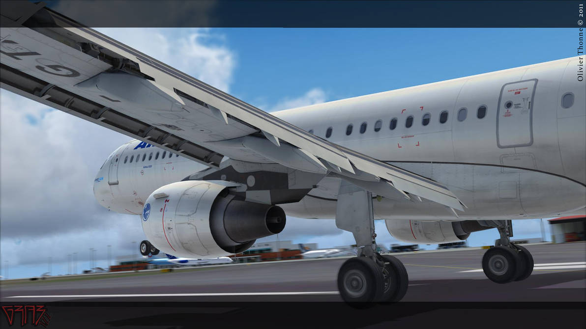 FSX - Side view of a A321 AF by ElCreolPawhite on DeviantArt