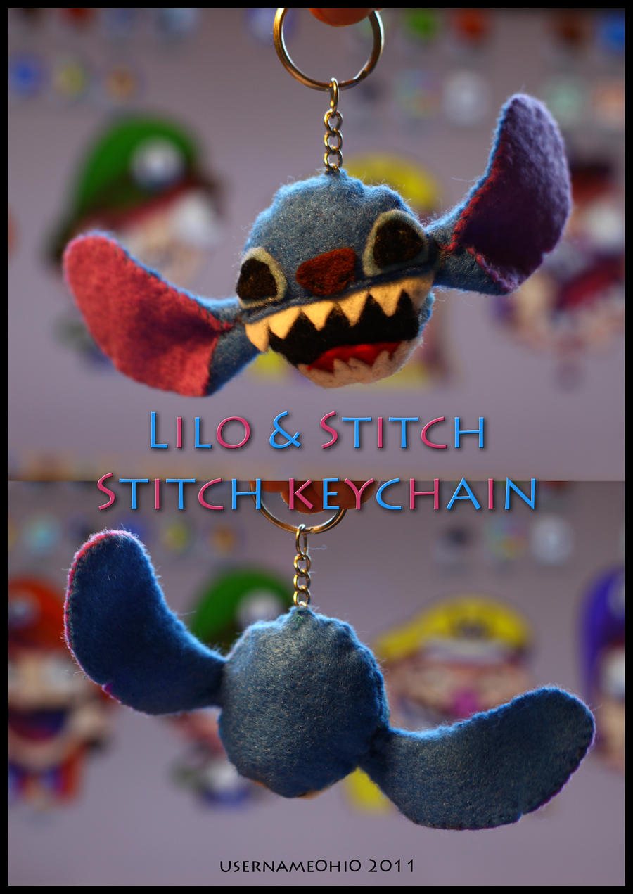 Lilo and stitch stitch plush keychain by username0hi0 on for Lilo and stitch arts and crafts