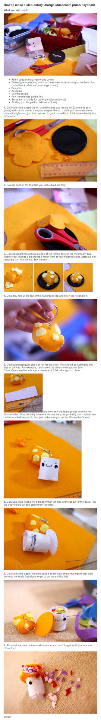 Tutorial: Orange mushroom plush by username0hi0