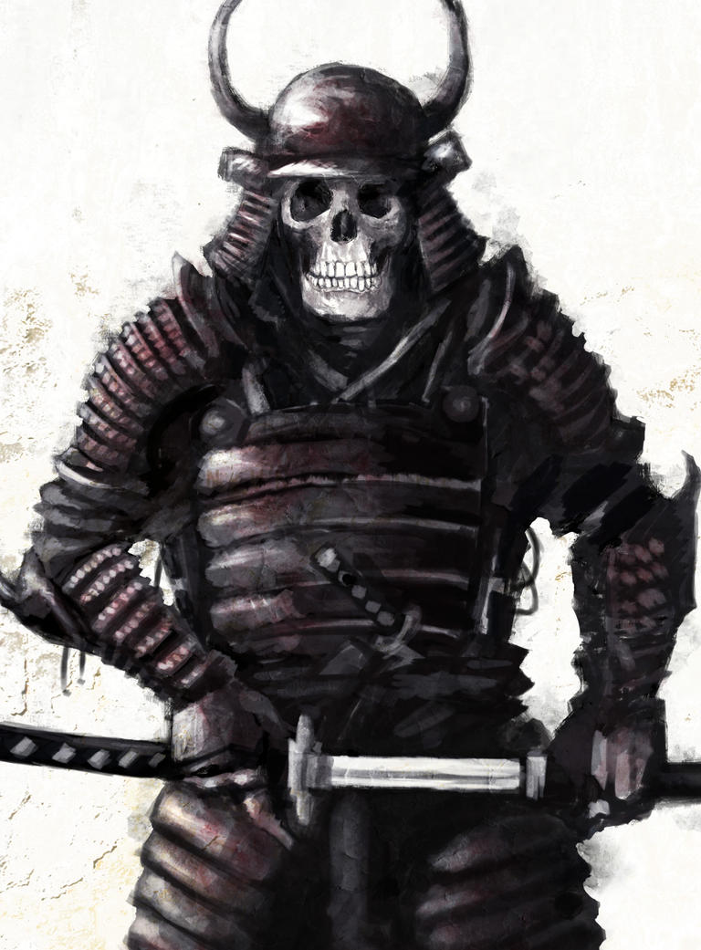 Samurai Skull Drawings