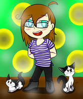 Me and my Kittens by darkstar1997