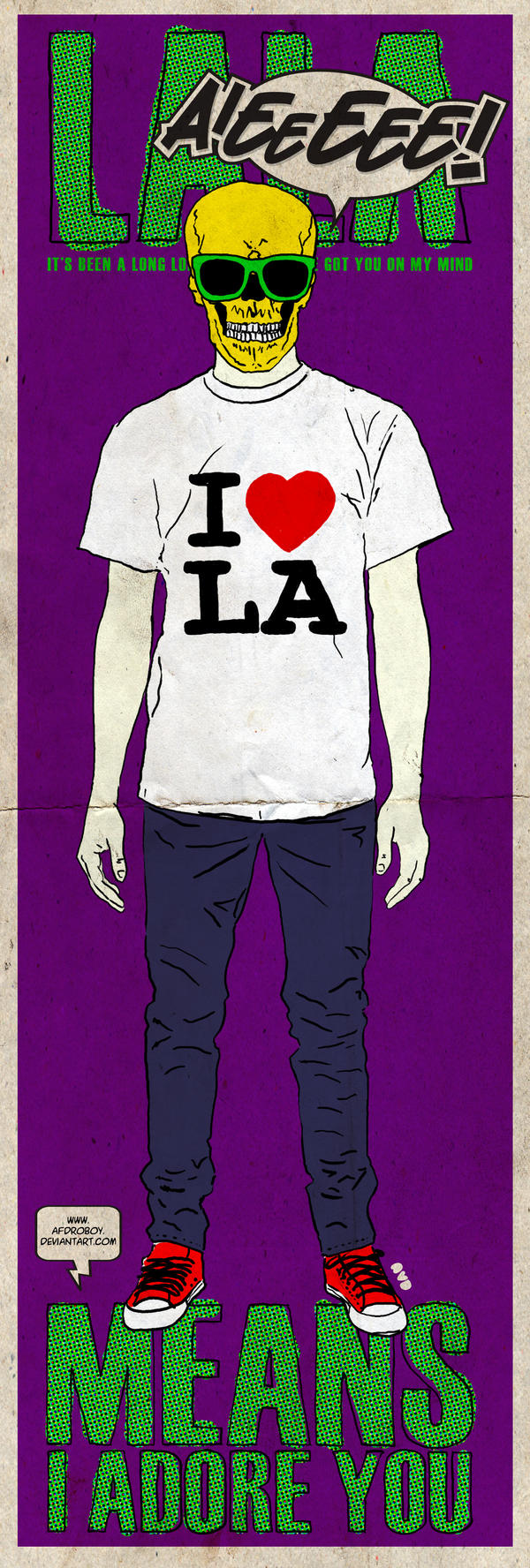 la la means i adore you by AFDROBOY