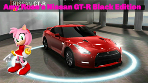 Amy Rose's Nissan GT-R Black Edition