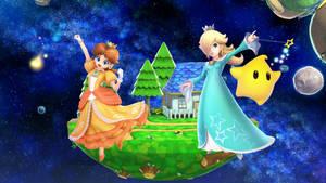 Princess Daisy Vs. Rosalina and Luma