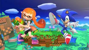 Inkling Girl Vs. Sonic the Hedgehog