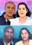COUPLE Cartoon Portrait (Commission) by elkingrueso