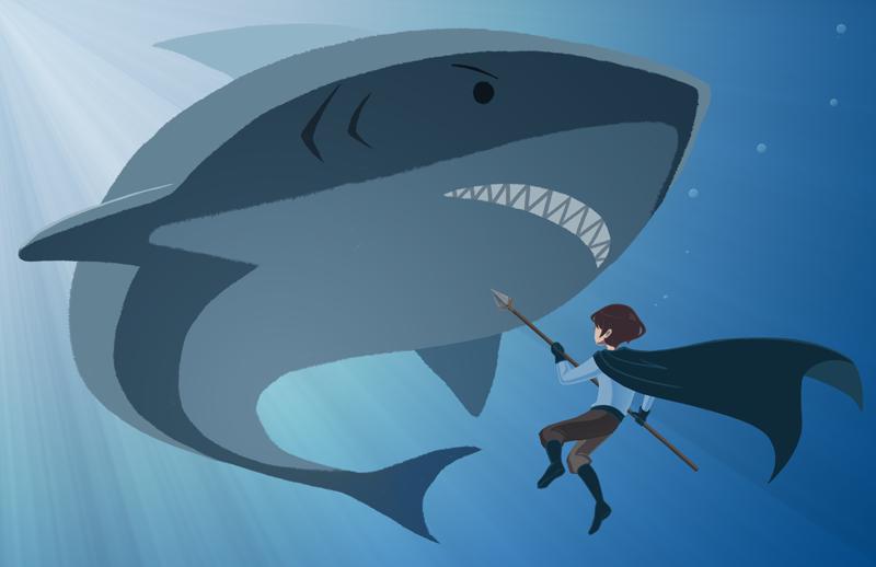 IT'S A SHARK by wizardofkitty
