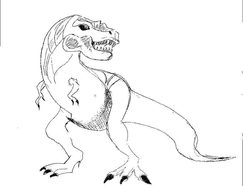 T Rex! by 1niteknightgoes