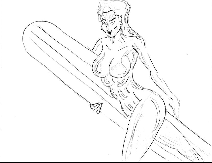Female sliver surfer! by 1niteknightgoes